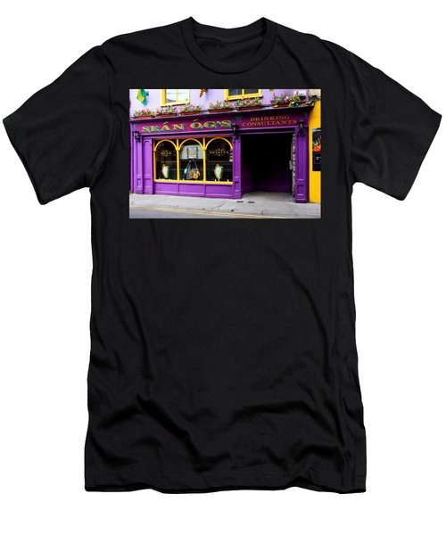 Colorful Irish Pub Men's T-Shirt (Slim Fit) by Aidan Moran