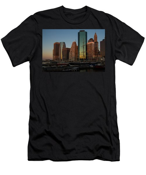 Men's T-Shirt (Slim Fit) featuring the photograph Colorful New York  by Georgia Mizuleva