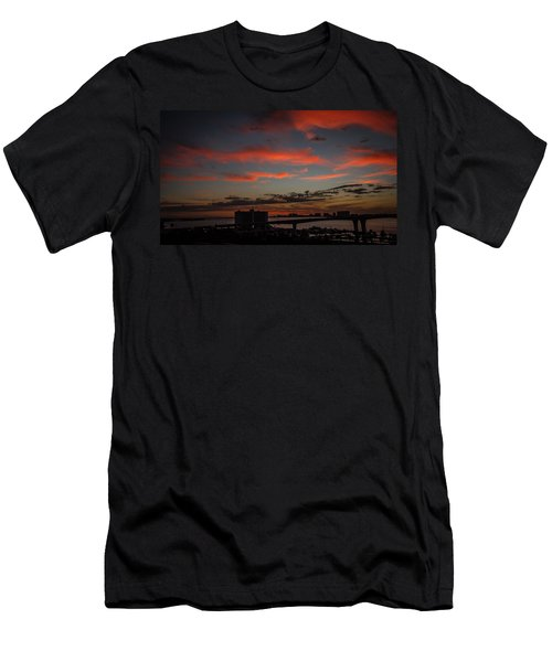 Men's T-Shirt (Slim Fit) featuring the photograph Colorful Sunset by Jane Luxton