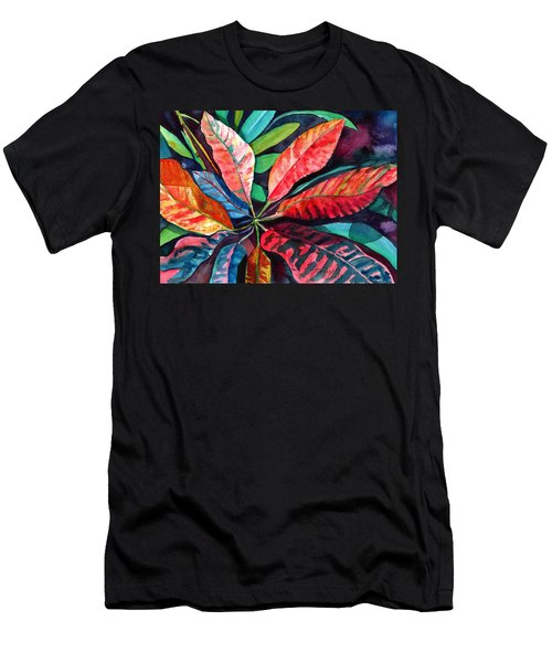 Colorful Tropical Leaves 2 Men's T-Shirt (Athletic Fit)