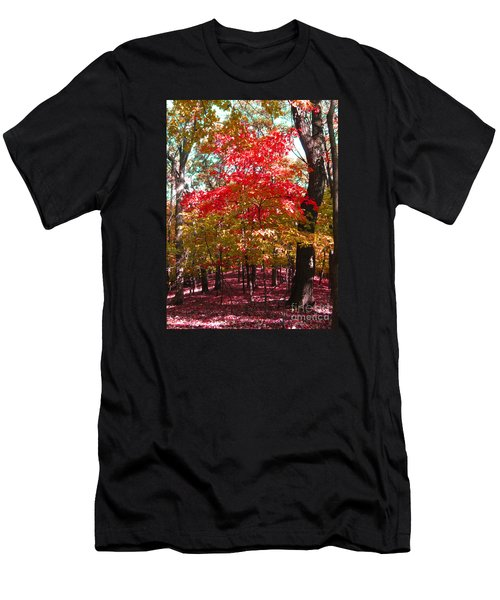 Colorful Woodland Men's T-Shirt (Athletic Fit)