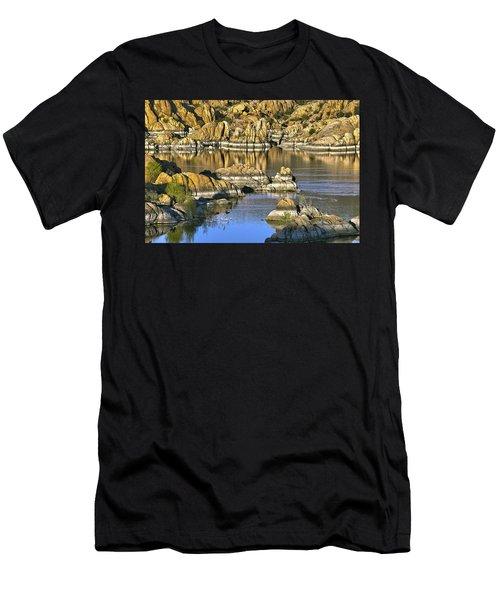 Colors In The Rocks At Watsons Lake Arizona Men's T-Shirt (Athletic Fit)
