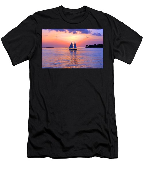 Colors Of Sunset Men's T-Shirt (Slim Fit) by Iryna Goodall