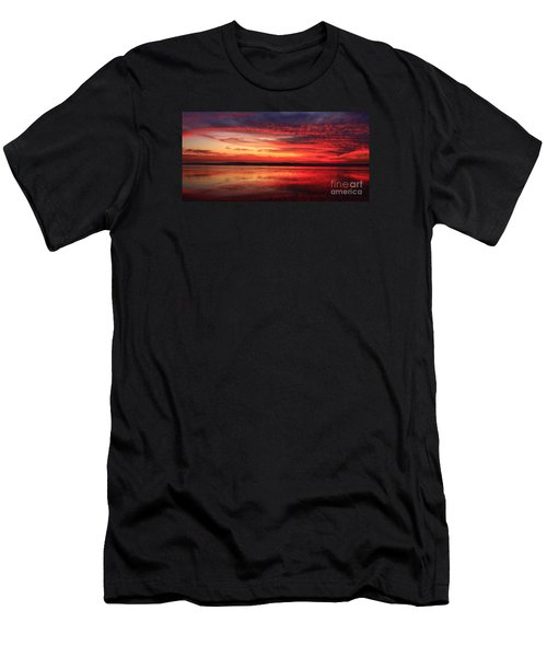 Encinitas Twilight Tide Men's T-Shirt (Athletic Fit)