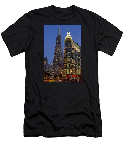 Columbus And Transamerica Buildings Men's T-Shirt (Athletic Fit)