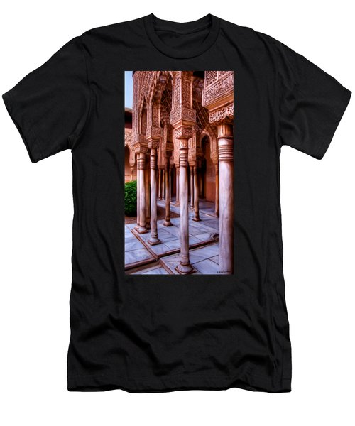 Columns Of The Court Of The Lions - Painting Men's T-Shirt (Athletic Fit)