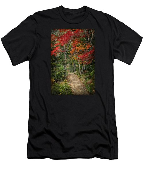 Come Walk With Me Men's T-Shirt (Slim Fit) by Priscilla Burgers
