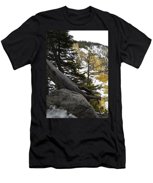 Men's T-Shirt (Slim Fit) featuring the photograph Composition At Lower Falls by Michele Myers