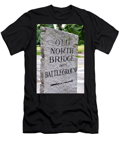 Concord Ma Old North Bridge Marker Men's T-Shirt (Athletic Fit)