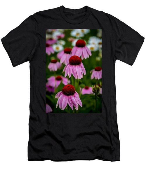Coneflowers In Front Of Daisies Men's T-Shirt (Athletic Fit)