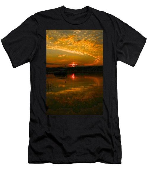 Conesus Sunrise Men's T-Shirt (Slim Fit) by Richard Engelbrecht