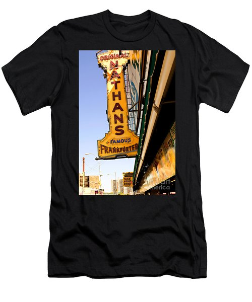 Coney Island Memories 1 Men's T-Shirt (Slim Fit) by Madeline Ellis