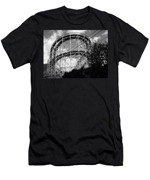Coney Island Roller Coaster Men's T-Shirt (Athletic Fit)