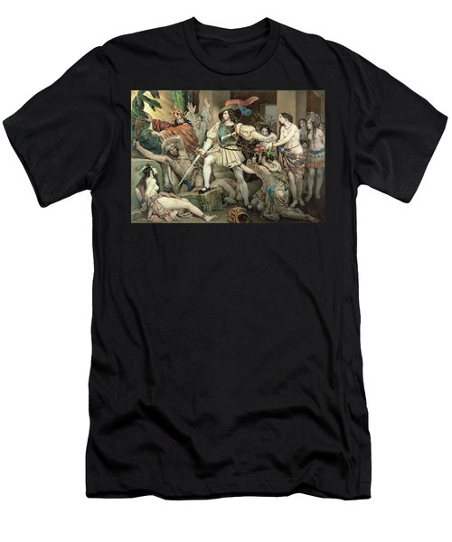 Conquest Of Mexico Hernando Cortes Men's T-Shirt (Athletic Fit)