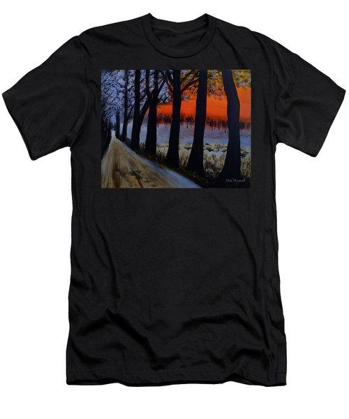 Conrad Road Sunrise Men's T-Shirt (Slim Fit) by Dick Bourgault