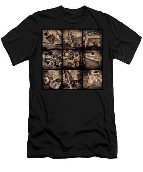 Construction Collage-1 Men's T-Shirt (Athletic Fit)
