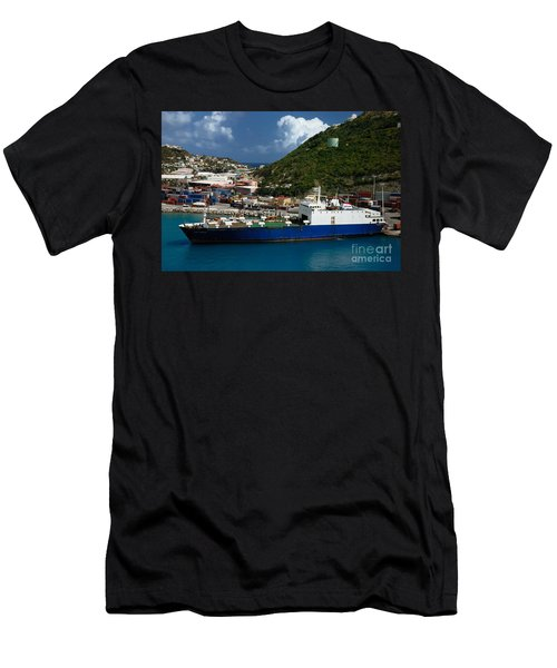 Container Ship St Maarten Men's T-Shirt (Athletic Fit)