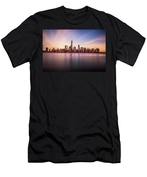 Men's T-Shirt (Athletic Fit) featuring the photograph Containment by Johnny Lam