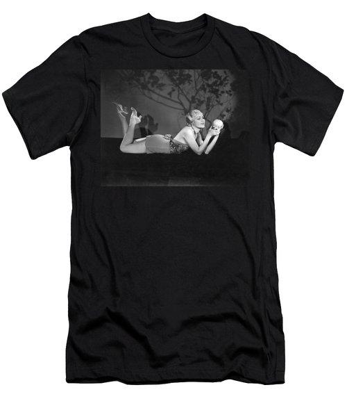 Contemplating A Grapefruit Men's T-Shirt (Slim Fit) by Elmer Fryer