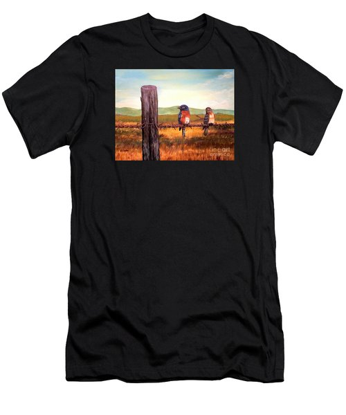Conversation With A Fencepost Men's T-Shirt (Athletic Fit)