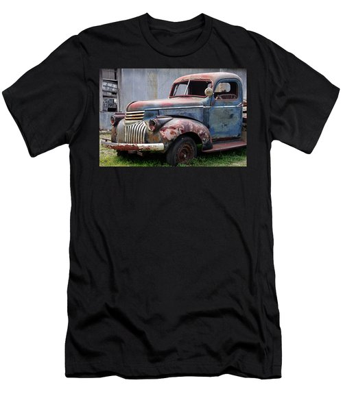 Men's T-Shirt (Slim Fit) featuring the photograph Cool Blue Chevy by Steven Bateson