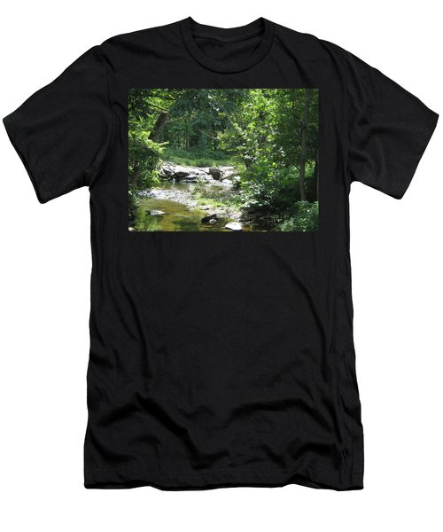 Men's T-Shirt (Slim Fit) featuring the photograph Cool Waters II by Ellen Levinson