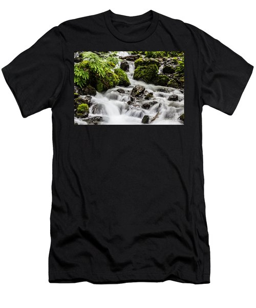 Men's T-Shirt (Slim Fit) featuring the photograph Cool Waters by Suzanne Luft