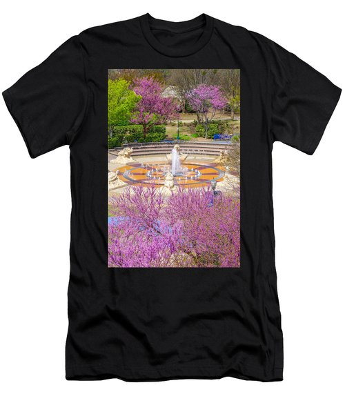 Coolidge Park Fountain In Spring Men's T-Shirt (Athletic Fit)