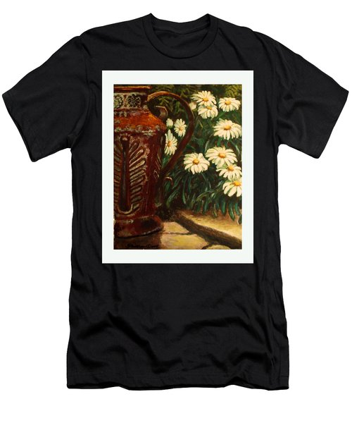 Copper And Daisies Men's T-Shirt (Slim Fit) by Harriett Masterson