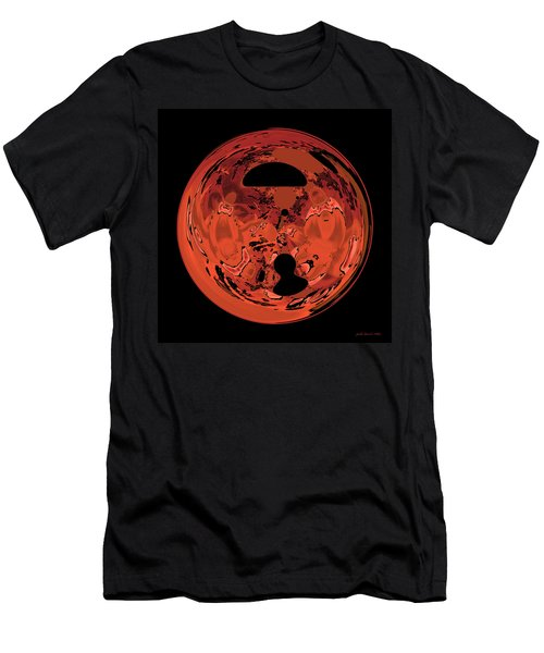 Copper Disk Abstract Men's T-Shirt (Athletic Fit)