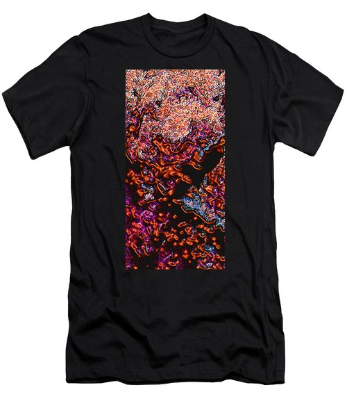 Men's T-Shirt (Slim Fit) featuring the digital art Copperglow 1 by Stephanie Grant