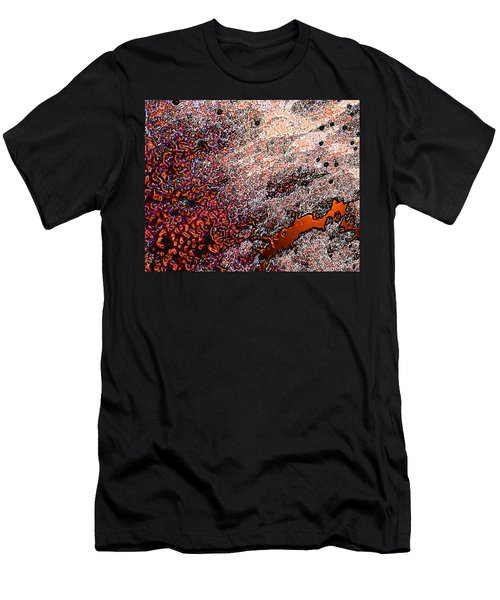 Men's T-Shirt (Slim Fit) featuring the photograph Copperspill by Stephanie Grant