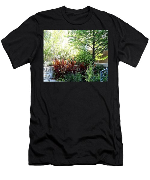 Men's T-Shirt (Athletic Fit) featuring the digital art Corner Garden by Deleas Kilgore