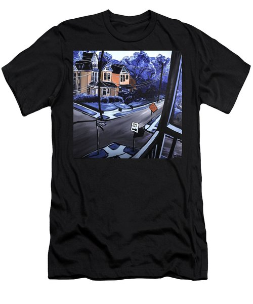 Men's T-Shirt (Slim Fit) featuring the painting Corner View by Jennifer Noren