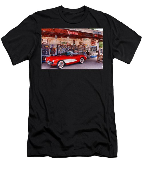 Corvette Drive Rt 66 Men's T-Shirt (Athletic Fit)