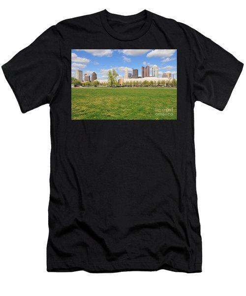 D7l-89 Cosi Columbus Photo Men's T-Shirt (Athletic Fit)