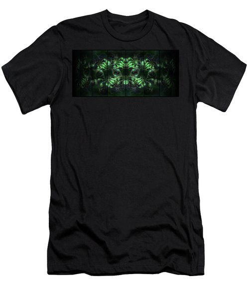 Cosmic Alien Eyes Green Men's T-Shirt (Athletic Fit)