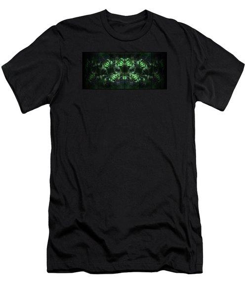 Cosmic Alien Eyes Green Men's T-Shirt (Slim Fit)