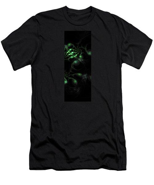 Cosmic Alien Eyes Original 2 Men's T-Shirt (Slim Fit) by Shawn Dall