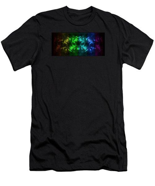 Cosmic Alien Eyes Pride Men's T-Shirt (Slim Fit)