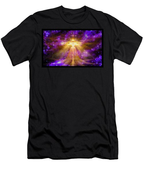 Cosmic Angel Men's T-Shirt (Slim Fit) by Shawn Dall