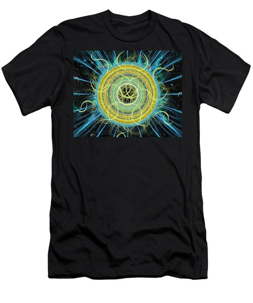 Cosmic Circle Fusion Men's T-Shirt (Athletic Fit)