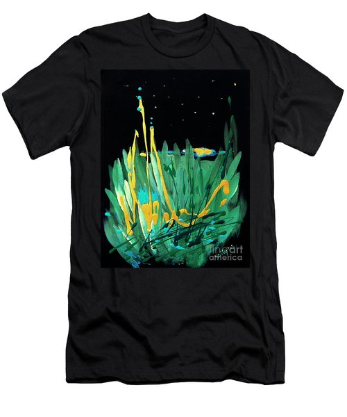 Men's T-Shirt (Slim Fit) featuring the painting Cosmic Island by Holly Carmichael