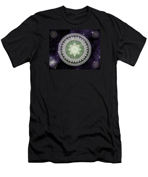 Cosmic Medallions Earth Men's T-Shirt (Slim Fit) by Shawn Dall
