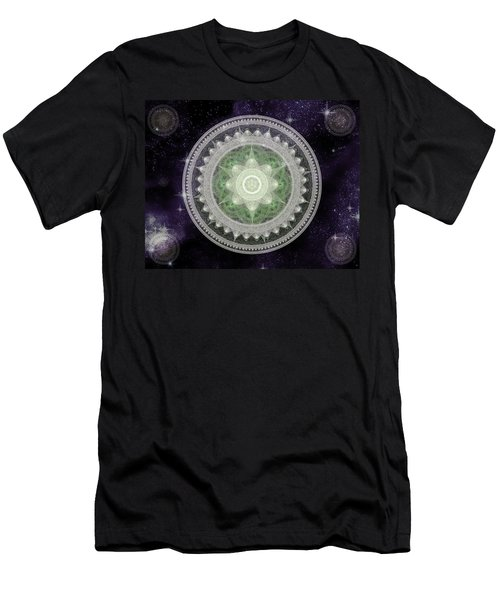 Cosmic Medallions Earth Men's T-Shirt (Athletic Fit)