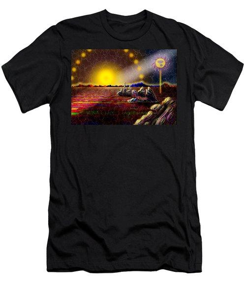 Cosmic Signpost Men's T-Shirt (Slim Fit) by Melinda Fawver