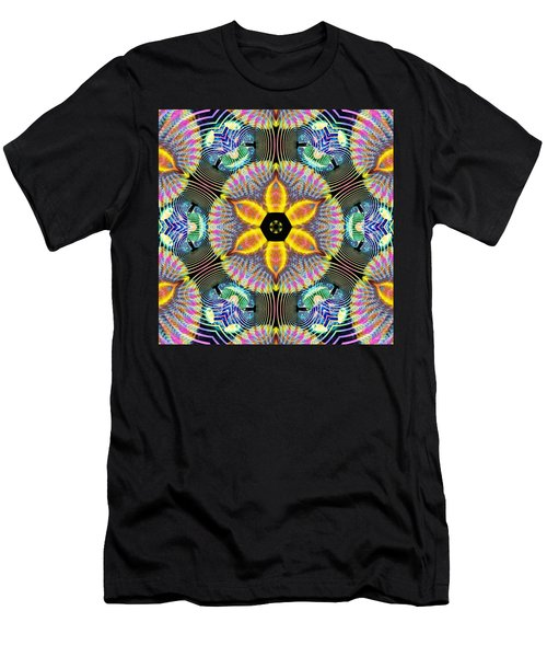 Cosmic Spiral Kaleidoscope 13 Men's T-Shirt (Athletic Fit)