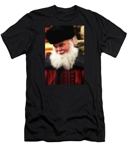 Cossack Santa Men's T-Shirt (Slim Fit) by Nadalyn Larsen