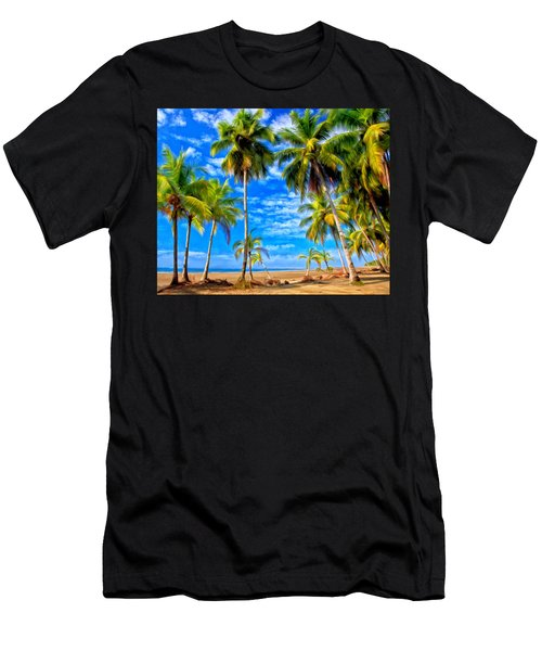Men's T-Shirt (Slim Fit) featuring the painting Costa Rican Paradise by Michael Pickett
