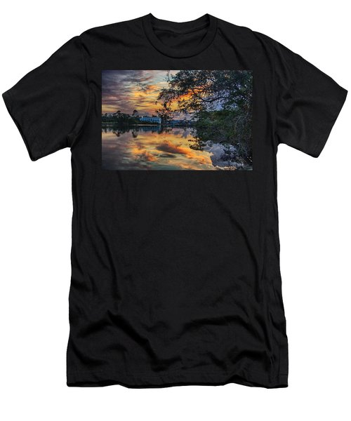 Men's T-Shirt (Slim Fit) featuring the digital art Cotton Bayou Sunrise by Michael Thomas